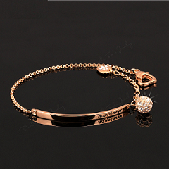 18K gold plated  Happiness armband met swarovski elements
