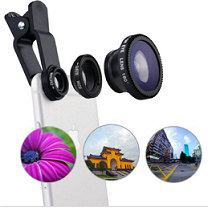 Universele 3-in-1 clip on lens
